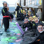Snorkel group with teacher