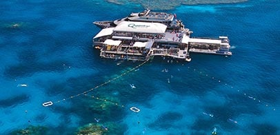 Great Barrier Reef Pontoon arial
