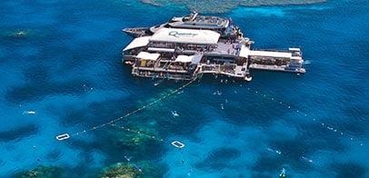 Great Barrier Reef Pontoon arial